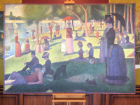 A sunday afternoon on la Grand Jatte - 76 x 51 inch. - G- Seurat